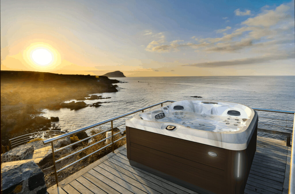 Jacuzzi Hot Tub installation on the beach in Colorado