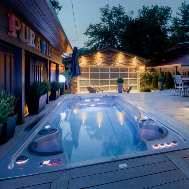 AquaTrainer 17 AX All Season Pool Swim Spa installation in Colorado