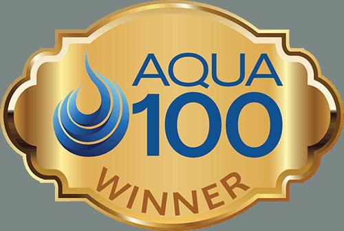 aqua 100 winner logo