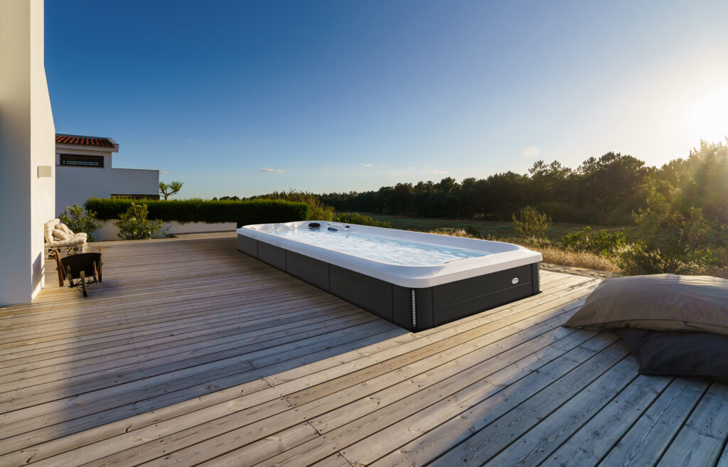 J-19 PowerActive all season pool swim spa installation in Colorado