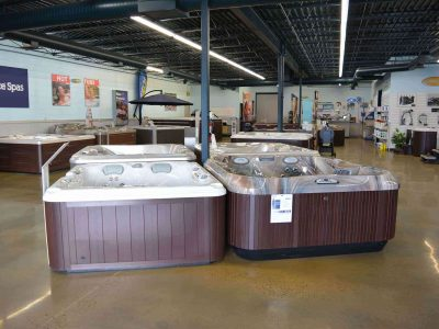 Spa Palace Fort Collins Colorado hot tub showroom