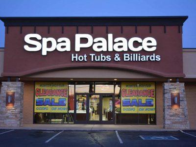 Spa Palace Pueblo Colorado hot tub showroom